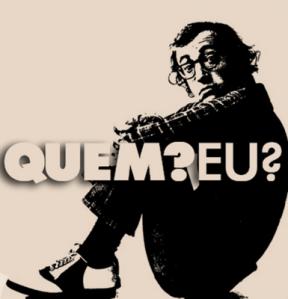 IMAGEM: homem (Woody Allen) sentado de lado perguntando: Quem? Eu?